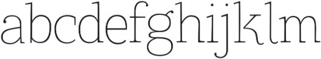 TT Coats Light otf (300) Font LOWERCASE