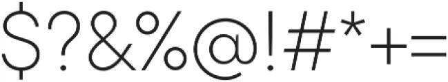 TT Commons ExtraLight otf (200) Font OTHER CHARS