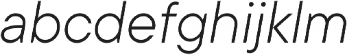TT Commons Light Italic otf (300) Font LOWERCASE