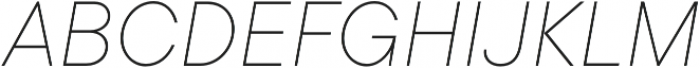 TT Commons Thin Italic otf (100) Font UPPERCASE
