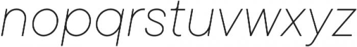 TT Commons Thin Italic otf (100) Font LOWERCASE