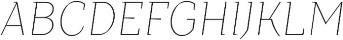 TT Crimsons Thin Italic otf (100) Font UPPERCASE