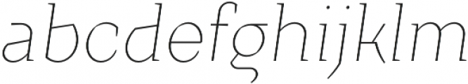 TT Crimsons Thin Italic otf (100) Font LOWERCASE