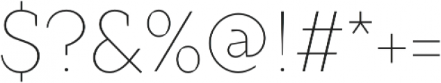 TT Crimsons Thin otf (100) Font OTHER CHARS