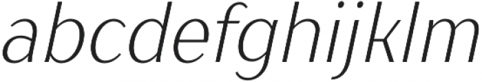 TT Drugs Condensed Light Italic otf (300) Font LOWERCASE