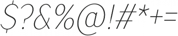 TT Drugs Condensed Thin Italic otf (100) Font OTHER CHARS