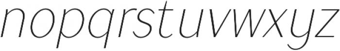 TT Drugs Condensed Thin Italic otf (100) Font LOWERCASE