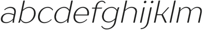 TT Drugs Light Italic otf (300) Font LOWERCASE