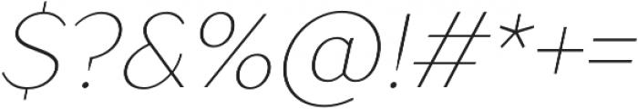 TT Drugs Thin Italic otf (100) Font OTHER CHARS