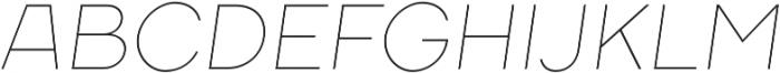 TT Firs ExtraLight Italic otf (200) Font UPPERCASE