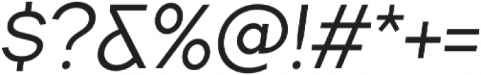 TT Firs Medium Italic otf (500) Font OTHER CHARS