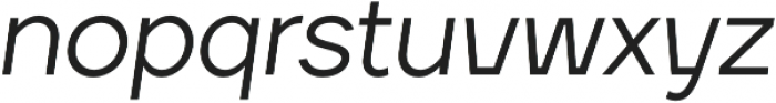 TT Firs Medium Italic otf (500) Font LOWERCASE