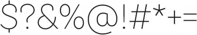 TT Hazelnuts ExtraLight otf (200) Font OTHER CHARS