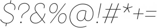 TT Hazelnuts Thin Italic otf (100) Font OTHER CHARS