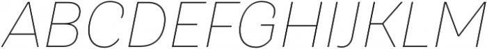 TT Hazelnuts Thin Italic otf (100) Font UPPERCASE