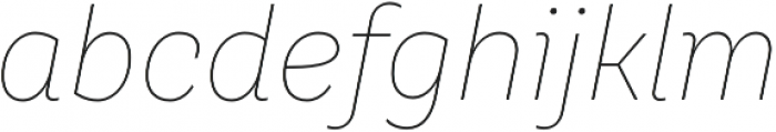 TT Hazelnuts Thin Italic otf (100) Font LOWERCASE