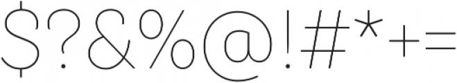 TT Hazelnuts Thin otf (100) Font OTHER CHARS
