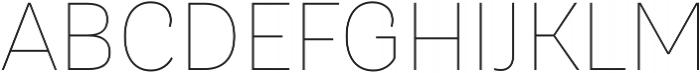 TT Hazelnuts Thin otf (100) Font UPPERCASE
