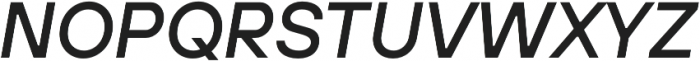 TT Hoves Light Italic otf (300) Font UPPERCASE