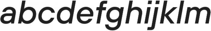 TT Hoves Light Italic otf (300) Font LOWERCASE