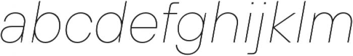 TT Hoves Medium Italic otf (500) Font LOWERCASE