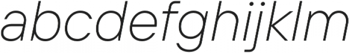 TT Interphases ExtraLight Italic otf (200) Font LOWERCASE