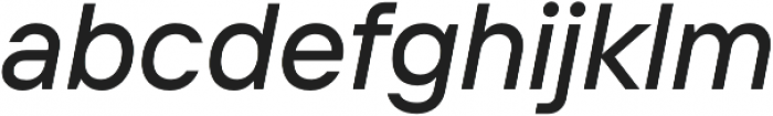 TT Interphases Medium Italic otf (500) Font LOWERCASE
