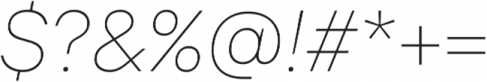 TT Interphases Thin Italic otf (100) Font OTHER CHARS