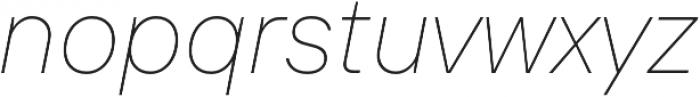 TT Interphases Thin Italic otf (100) Font LOWERCASE