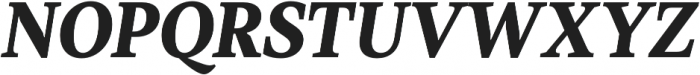 TT Jenevers ExtraBold Italic otf (700) Font UPPERCASE
