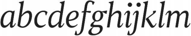 TT Jenevers Light Italic otf (300) Font LOWERCASE