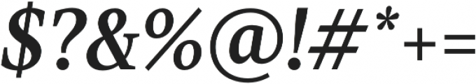 TT Jenevers Medium Italic otf (500) Font OTHER CHARS