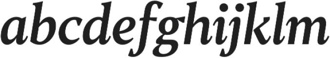 TT Jenevers Medium Italic otf (500) Font LOWERCASE