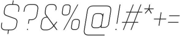 TT Lakes Condensed Thin Italic otf (100) Font OTHER CHARS
