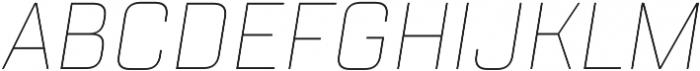 TT Lakes Condensed Thin Italic otf (100) Font UPPERCASE
