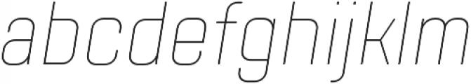TT Lakes Condensed Thin Italic otf (100) Font LOWERCASE