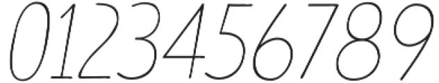 TT Limes Sans Thin Italic otf (100) Font OTHER CHARS