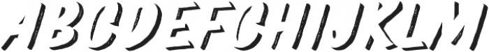 TT Marks Rough Shadow ExtraBold otf (700) Font UPPERCASE