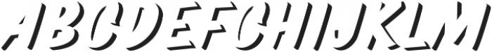 TT Marks Shadow ExtraBold otf (700) Font UPPERCASE