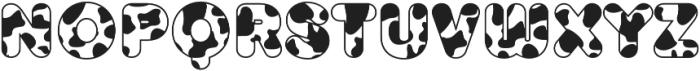TT Milks Casual Outline Cow otf (400) Font LOWERCASE