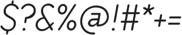 TT Milks Light Italic otf (300) Font OTHER CHARS