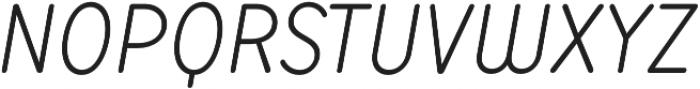 TT Milks Light Italic otf (300) Font UPPERCASE