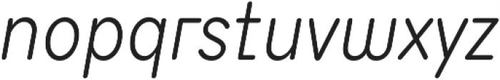 TT Milks Light Italic otf (300) Font LOWERCASE