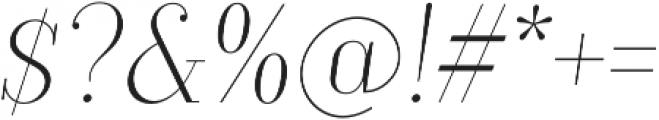 TT Moons Thin Italic otf (100) Font OTHER CHARS