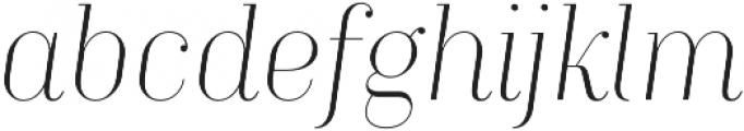 TT Moons Thin Italic otf (100) Font LOWERCASE