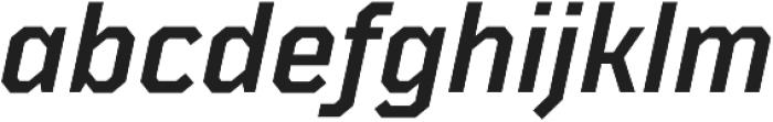 TT Mussels DemiBold Italic otf (600) Font LOWERCASE