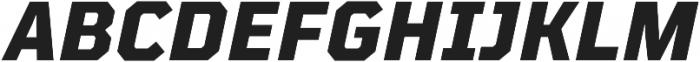 TT Mussels ExtraBold Italic otf (700) Font UPPERCASE