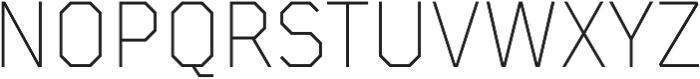 TT Mussels ExtraLight otf (200) Font UPPERCASE
