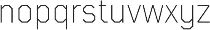 TT Mussels ExtraLight otf (200) Font LOWERCASE