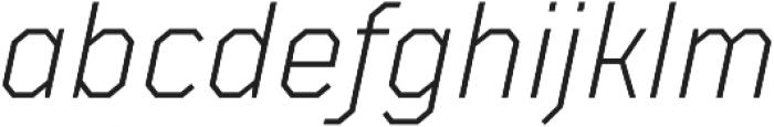 TT Mussels Light Italic otf (300) Font LOWERCASE
